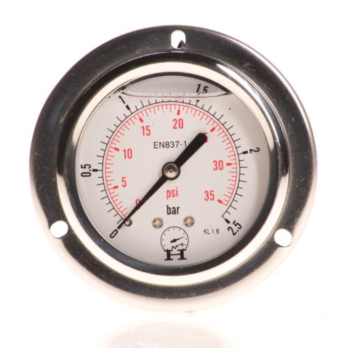 Manometr mocowanie czołowe 1/4″ 63mm HNF