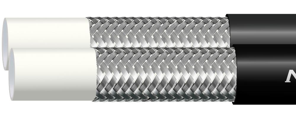 Wąż termoplastyczny w oplocie stalowym TWIN