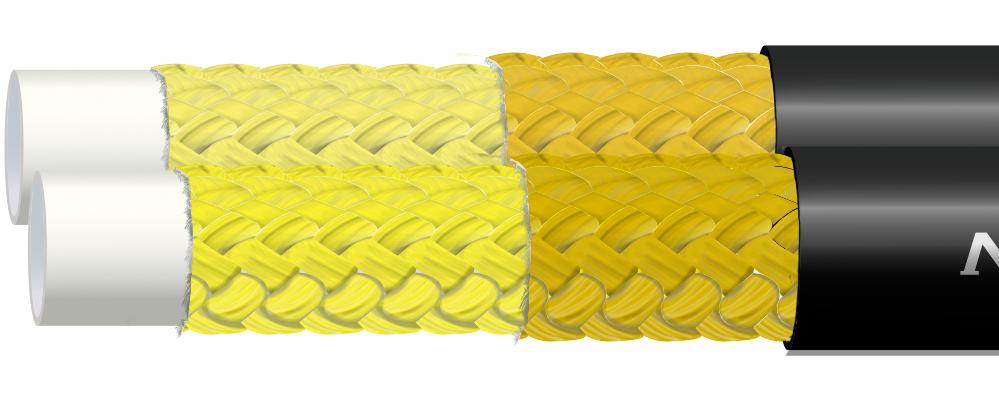 Wąż termoplastyczny w oplocie aramidowym R8 TWIN