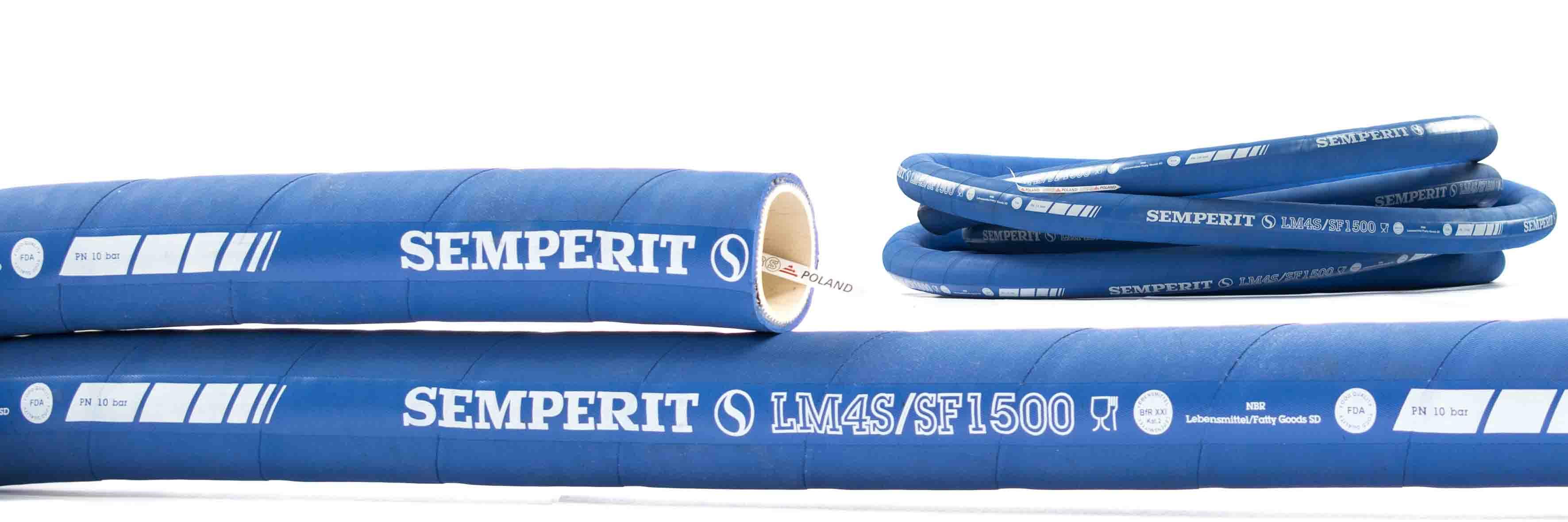 Wąż przemysłowy do substancji spożywczych LM4S 10 bar SEMPERIT