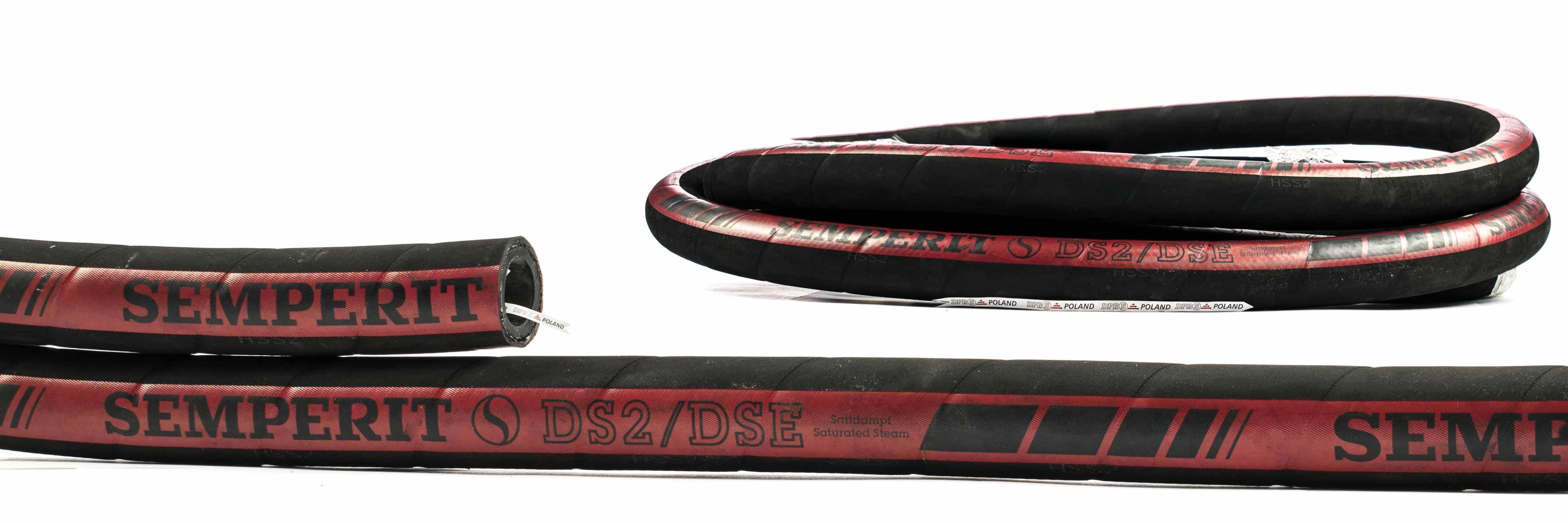 Wąż przemysłowy do pary i gorącej wody DS2/DSE SEMPERIT 18 bar 55 bar